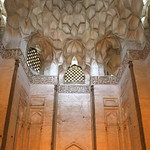 West wall and muqarnas of on the cieling of the Tomb Chamber of the Shrine (Khanaqah) of Shaykh 'Abd al-Samad