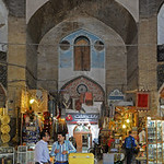 Inside the Keisaria Bazaar at the North end of the Maidan (Naqsh-e Jahan Square) in Isfahan