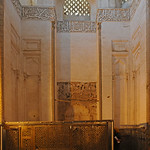 South wall with Mihrab and Cenotaph enclosure in Tomb Chamber of the Shrine (Khanaqah) of Shaykh 'Abd al-Samad