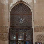 N (entry) wall and door from the dome chamber to the Torbat Khaneh