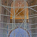 S Iwan from inside the dome - entrance to Torbat Khaneh